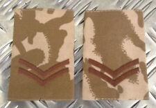 Genuine British Army Desert Camouflage CORPORAL Rank Slides - NEW x 100 Pairs