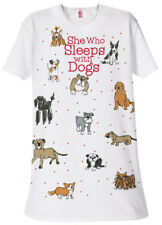 """Relevant Products """"She Who Sleeps With Dogs"""" one size sleep shirt"""