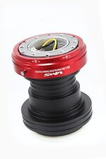 VMS RACING 96-00 HONDA CIVIC STEERING WHEEL HUB RED QUICK RELEASE COMBO BLACK