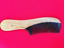 "6.52"" WELL CRAFTED OX HORN/SANDAL WOOD COMB W/HANDLE - FOR ALL HAIR! NEW!"
