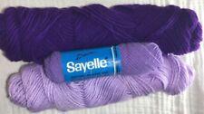 Vintage Assorted Shades Purple 4ply Acrylic Worsted Medium Yarn Sayelle Skeins