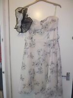 Stunning Black and White Floral Dress Size 16 Mother of the Bride Wedding