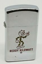 Vintage 1974 Reddy Kilowatt Electric Collectible ZIPPO SLIM LIGHTER NICE!!!