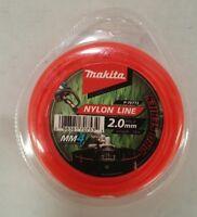 Makita Nylon Line - Whipper Snipper, Brush Cutter, Line Trimmer 2.0mm x15m