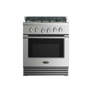 """DCS 30"""" Range with 4 Sealed Gas Burners, 4.0 cu. ft. Electric Convection Oven"""