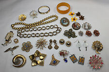 HUGE Vintage Costume Jewelry Lot Many Signed MONET Trifari ANN TAYLOR Weiss MORE