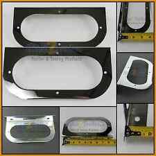 "(2) Chrome Mounting Bracket for 6"" Oval Lights, Coated steel, trailer RV 81381"