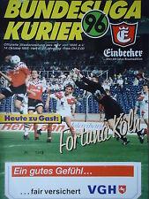 Programm 1995/96 Hannover 96 - Fortuna Köln