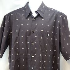 Men's Casual Shirt XL Zanella Black Button Front Made Italy