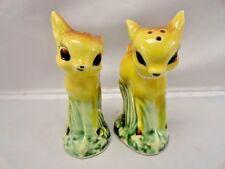 Vintage Fawn Baby Deer Japan Salt & Pepper Shakers Anthropomorphic