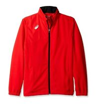 ASICS Team Battle Warm Up Jacket  - Red - Mens. Water resistant with hood.