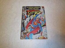 1987 Superman DC Comics hard back The Greatest Superman Stories Ever Told