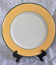 """Pagnossin Treviso Spa Yellow Green Trim 12"""" Chop Plate Platter 9304"""