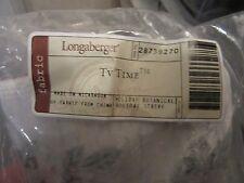 Longaberger Tv Time Basket Holiday Botanical Fabric Liner