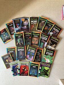 Lot 23 livres Chair de Poule RL Stine Folio Fais Moi Peur Horrorland