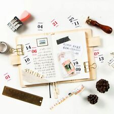 12 Sheets Vintage Creative Calendar Paper Sticker Decorative Agenda Planner