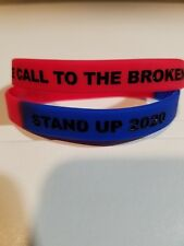 DONALD TRUMP THE CALL TO THE BROKEN STAND UP 2020 ADULT BRACELET WRISTBAND