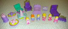 L@@K CASTLE PRINCESS KING QUEEN FURNITURE DOLL HOUSE 16pc PRETEND PLAY MIXED LOT