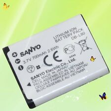 New Genuine SANYO DB-L80 Battery VPC-CS1 CG20 CG88 CG100 CA100 VAR-L80