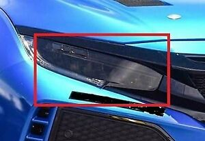 Honda Civic Touring / Type R Headlight Tint Pre-Cut Overlay SMOKE 2017-2021