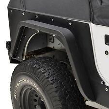 87-96 Jeep Wrangler YJ Rear Fender Flare Side Armor Kit Black Textured Steel