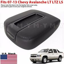 2007-2013 Chevy Avalanche LT LS LTZ Console Armrest Lid Replacement Cover BLACK