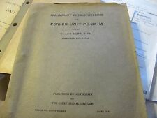 Preliminary Instruction Book Power Unit PE-85-M Generator  1944