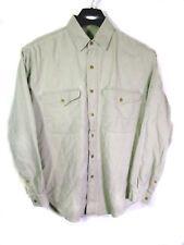 L.L.Bean Men's Shirt Long Sleeve Light Green Gray 100% Cotton Sz Medium