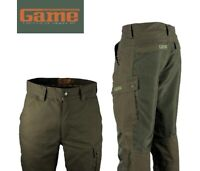 Game Hawk Trousers  Canvas Cordura Waterproof Hunting Shooting country