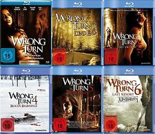WRONG TURN Partie 1 2 3 4 5 6 COMPLETE COLLECTION 6 BLU-RAY édition nouveau