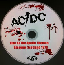 AC-DC LIVE AT THE APOLLO  GLASGOW SCOTLAND DVD APRIL 30, 1978 AC/DC BON SCOTT