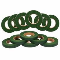 12 Floral Tape, Bouquets, 360 Yards, Value Pack, 1/2 Inch x 30 Yards, Dark Green