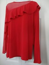 Thalia Sadi Top Blouse XL Lipstick Red MSRP $59.50 NWT!