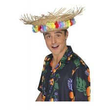 Straw Beach Hat Adult Parrot Head Luau Costume Accessory Fancy Dress