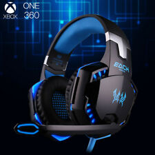 3.5mm Gaming Headset MIC LED Headphones Blue G2000B for Laptop PS4 Xbox One 360E