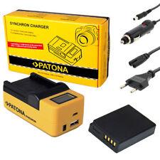 PATONA LCD USB Ladegerät + Akku für Panasonic Lumix DMC-TZ18 TZ19 TZ20 TZ22 TZ25