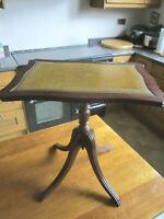 Superb Old Antique Georgian Regency Style Mahogany Tilt Leather Top Table