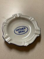 VTG Advertising Cigarette/Cigar Ashtray GRUNER BRAU Thomas Marktredwitz Germany