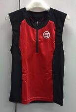 Skins TRI 400 Triathlon Men's Compression Tri Sleeveless Top Red Black Size S