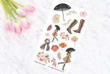 Rainy Days 2 Decorative Planner Stickers all Planner Types Erin Condren Personal