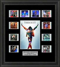 Michael Jackson This Is It Framed 35mm Film Cell Memorabilia Filmcells Movie Cel