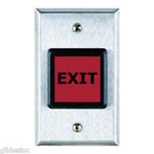 Model Hpb4Sqer Square Red Illuminated Push To Exit Button