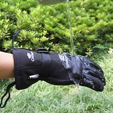 Waterproof Men's Fleece Gloves Ski Snowboard Snow Motorcycle Warm Sports Black