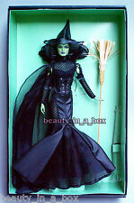 Wicked Witch of the West Barbie Collector Doll Wizard of Oz Glamour Gold Label