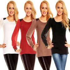 Klassische Damenblusen,-Tops & -Shirts mit Rundhals für Business