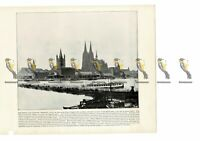 Cologne, The Rhine, Germany, Book Illustration (Print), 1899