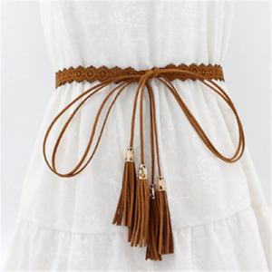 2021 TOP HOT New ladies belt fashion ethnic style hollow tassel tie belt
