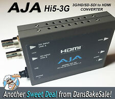 Aja Hi5-3G 3G / Hd / Sd-Sdi to Hdmi Converter with Power Supply and Hdmi Cable