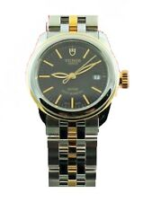 Ladies 18K Gold Black Luxury Watch New Tudor Glamour Date 51003-68013 26Mm