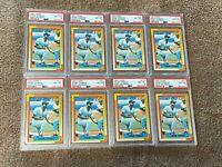 (8) Card Lot 1990 Topps Frank Thomas Rookie RC PSA 8 Graded #414 White Sox HOF